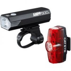 Cateye Ampp 500 & Rapid Mini Front & Rear Light Set   Light Sets