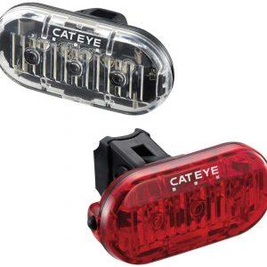 Cateye Omni 3 Front & Rear Bike Light Set