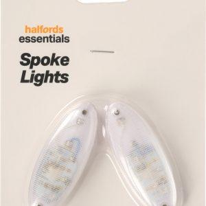 Halfords Essential Kids Bike Spoke Lights - Blue/Red