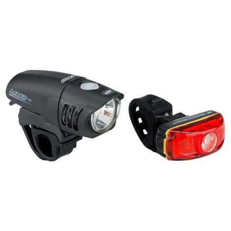 NITERIDER Mako 250 / Cherrybomb 35 Bike Light Set - Black / Non-Rechargeable / Light Set
