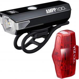 Cateye Ampp 100 / Viz 100 Bike Light Set